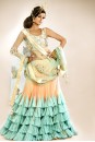 Payal Singhal Bridal Collection : FRILL LEHENGA