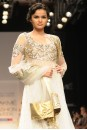 Payal Singhal Indian Wear Collection : OFF WHITE MUKAISH KURTA WITH SEA GREEN PANTS