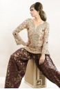 Payal Singhal Indian Wear Collection : BLUSH ZARDOSI & CRYSTAL KURTA WITH PURPLE PANTS