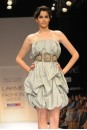 Payal Singhal Dresses Collection : GREY TAFFETA BUBBLE DRESS