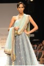 Payal Singhal Indian Wear Collection : SEA BLUE MUKAISH KALIDAR & SKIRT