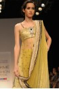 Payal Singhal Indian Wear Collection : OLIVE GREEN MUKAISH KURTA WITH SOFTNET CHURIDAR