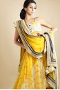 Payal Singhal Indian Wear Collection : OLIVE GREEN MUKAISH KURTA WITH SOFTNET CHURIDAR