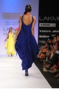 Payal Singhal Dresses Collection : COBALT BLUE COWL DRESS