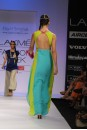 Payal Singhal Indian Wear Collection : FRESH BLUE GREY & NEON KURTA WITH LEGGINGS
