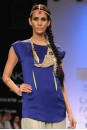 Payal Singhal Tunics Collection : COBALT SATIN SHIRT