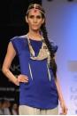 Payal Singhal Tunics Collection : COBALT SATIN SHIRT
