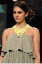 Payal Singhal Dresses Collection : GREY CREPE RUFFLE DRESS