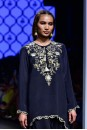 Payal Singhal Off The Runway Collection : KIRAZ BLACK CHIDIYA HIGH LOW KURTA AND LOW CROTCH PANTS
