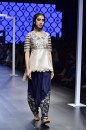 Payal Singhal Off The Runway Collection : TAHSEEN BLUSH EMBROIDERED KURTA AND LOW CROTCH PANTS