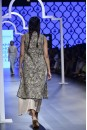 Payal Singhal Off The Runway Collection : ASHNA NAVY CUTWORK JACKET AND BLUSH BUSTIER WITH PALAZZO PANTS