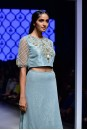 Payal Singhal Off The Runway Collection : REHANA EMBROIDERED CHOLI AND MUKAISH CHURIDAAR SKIRT