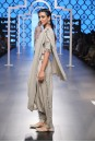 Payal Singhal Off The Runway Collection : GAZAL CROP TOP AND LOW CROTCH PANTS WITH ATTACHED DRAPE