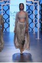 Payal Singhal Off The Runway Collection : FALAK FAN EMBROIDERED BUSTIER AND LOW CROTCH PANTS WITH CAPE