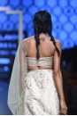 Payal Singhal Off The Runway Collection : SAIBA BLUSH BUSTIER WITH BROCADE LEHENGA AND DUPATTA