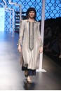 Payal Singhal Off The Runway Collection : FAZAL GREY EMBROIDERED KURTA AND NAVY PALAZZO PANTS