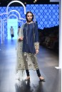 Payal Singhal Off The Runway Collection : RASHA NAVY FLOWER BUTI EMBROIDERED KURTA WITH CHURIDAAR AND DUPATTA