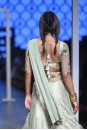 Payal Singhal Off The Runway Collection : JUMANA BROCADE EMBROIDERED LEHENGA AND CHOLI WITH ATTACHED DRAPE