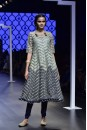 Payal Singhal Off The Runway Collection : IREM MINT NAVY EMBROIDERED ANARKALI WITH CHURIDAAR AND DUPATTA