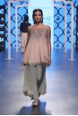 Payal Singhal Off The Runway Collection : NASIM BLUSH YOKE KURTA WITH SCALLOP CROP PALAZZO AND DUPATTA