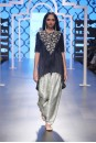 Payal Singhal Off The Runway Collection : KYRA BLACK EMBROIDERED HIGH-LOW KURTA WITH BROCADE SALWAR AND DUPATTA