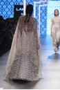 Payal Singhal Off The Runway Collection : LAMIYA GREY EMBROIDERED CHOLI WITH STRIPED LEHENGA AND DUPATTA