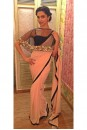 Payal Singhal Sarees Collection : BLUSH PINK GEORGETTE CAPE SAREE