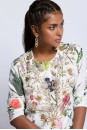 Payal Singhal Indian Wear Collection : IVORY PRINTED KURTA AND AQUA PALLAZO SET