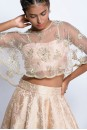 Payal Singhal Indian Wear Collection : BLUSH CAPE AND LEHENGA SET