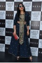 Payal Singhal New Arrivals Collection : NAVY EMBROIDERED LONG YOKE CROP TOP WITH PALAZZO PANTS