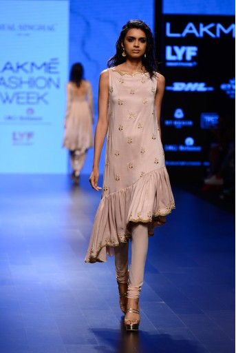PS-FW401 Kashish Blush Silk Kurta with Soft Net Churidar
