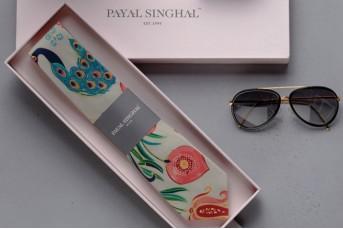 PS-DF022 Khaki Anaar Aur Mor Print Tie