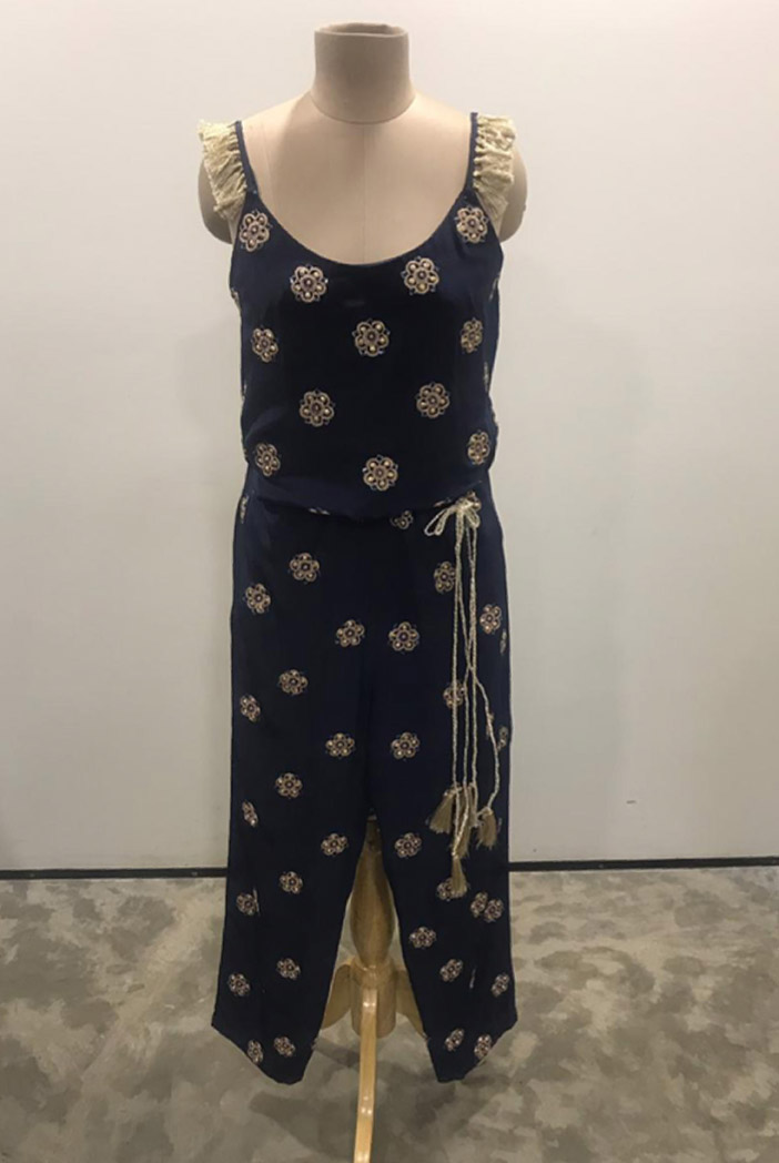 PS-ST1393-A-1 Navy Crepe Jumpsuit