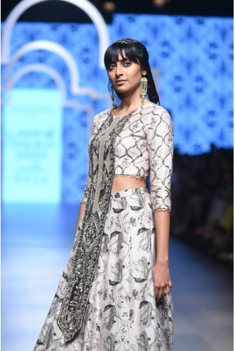 PS-FW466 Ranya Blush Printed Choli and Lehenga