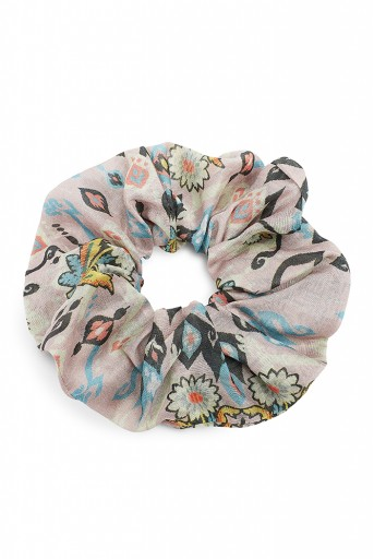 PS-SCR031  Set of 6 Assorted Silkmul Scrunchies in Signature Prints
