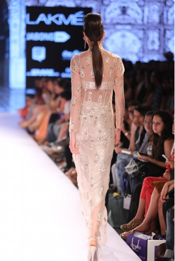 PS-FW317 Shabnam Blush Sequined Bustier  and Dhoti Pant with Organza Jacket