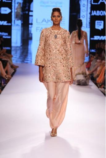 PS-FW320 Shama Blush Dupion Silk Kurta with Silk Afghani Salwar