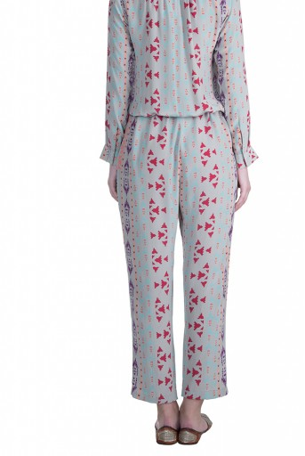 PS-FW616 Tamara Grey Printed Crepe Jumpsuit