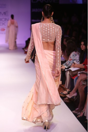 PS-FW271 Uma Blush Silkmul and Tulle Choli with Lehenga Saree