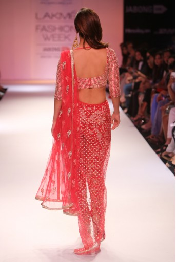 PS-FW285 Vaani Cranberry Dupion Silk Choli with Churidar Lehenga and Net Dupatta
