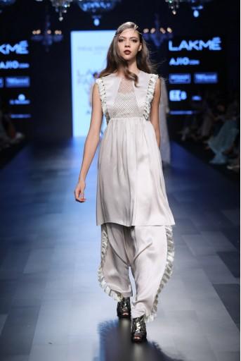 PS-FW436 Zia Stone Silk Short Kurta with Salwar
